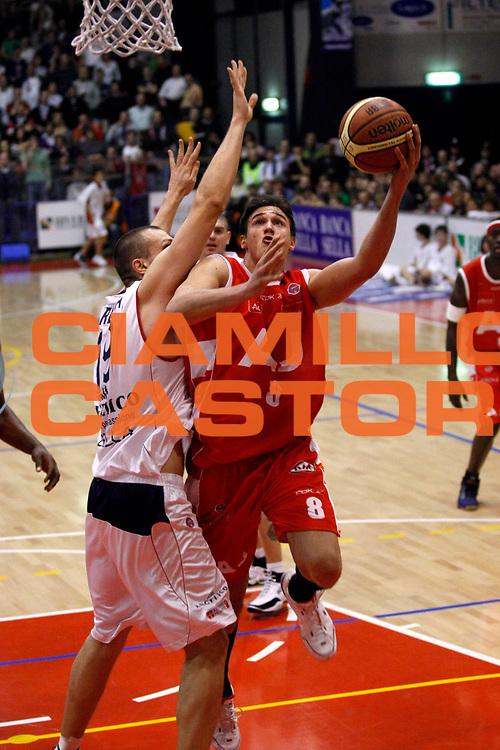 DESCRIZIONE : Biella Lega A1 2007-08 Angelico Biella Armani Jeans Milano<br /> GIOCATORE : Danilo Gallinari<br /> SQUADRA : Armani Jeans Milano<br /> EVENTO : Campionato Lega A1 2007-2008<br /> GARA : Angelico Biella Armani Jeans Milano<br /> DATA : 02/12/2007<br /> CATEGORIA : Tiro<br /> SPORT : Pallacanestro<br /> AUTORE : Agenzia Ciamillo-Castoria/G.Cottini