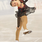 Mariah Bell competes in the championship ladies short program at the 2014 US Figure Skating Championships at TD Garden in Boston, MA, on January 9, 2014.