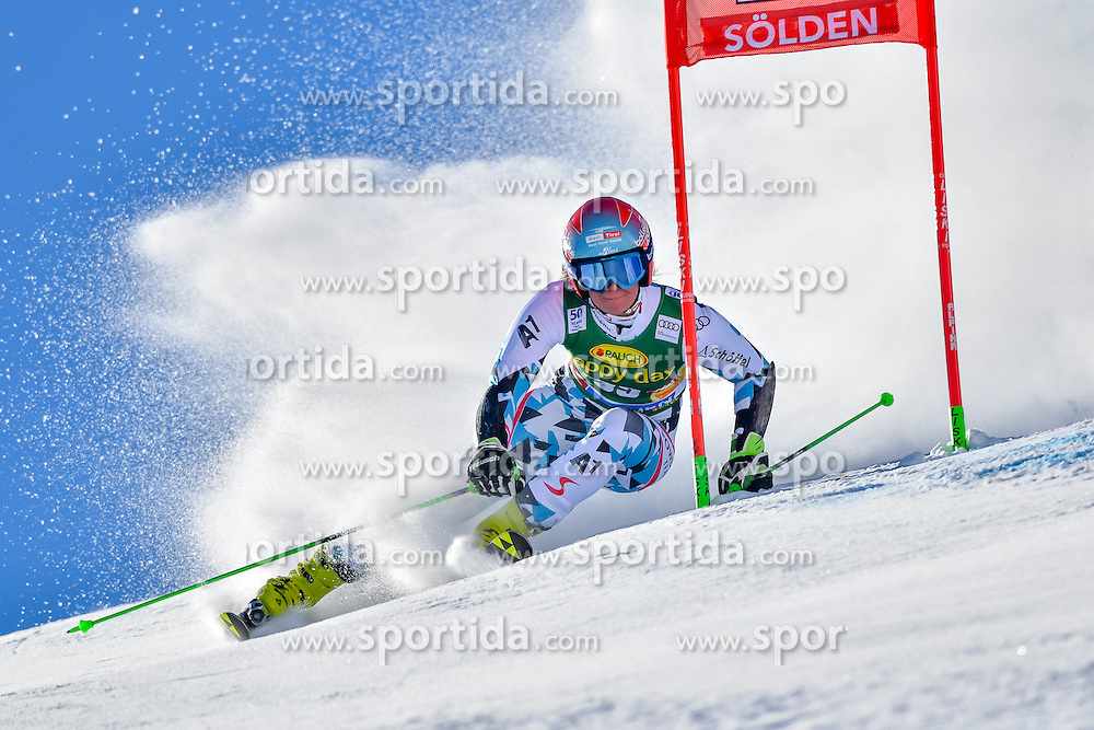 22.10.2016, Rettenbachferner, Soelden, AUT, FIS Weltcup Ski Alpin, Soelden, Riesenslalom, Damen, 1. Durchgang, im Bild Ricarda Haaser (AUT) // Ricarda Haaser of Austria in action during 1st run of ladies Giant Slalom of the FIS Ski Alpine Worldcup opening at the Rettenbachferner in Soelden, Austria on 2016/10/22. EXPA Pictures &copy; 2016, PhotoCredit: EXPA/ Nisse Schmid<br /> <br /> *****ATTENTION - OUT of SWE*****