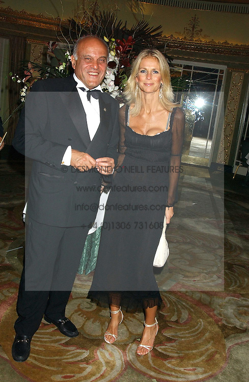 Centre, ULRIKA JONSSON and heart surgeon SIR MAGDI YACOUB at the Chain of Hope 10th Anniversary Ball held at The Dorchester, Park Lane, London on 1st November 2005.<br /><br />NON EXCLUSIVE - WORLD RIGHTS