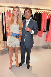 JAMES HENDERSON and his daughter ALLEGRA HENDERSON at a party to celebrate the re-launch of the Ghost Flagship store at 120 King's Road, London on 15th April 2015.