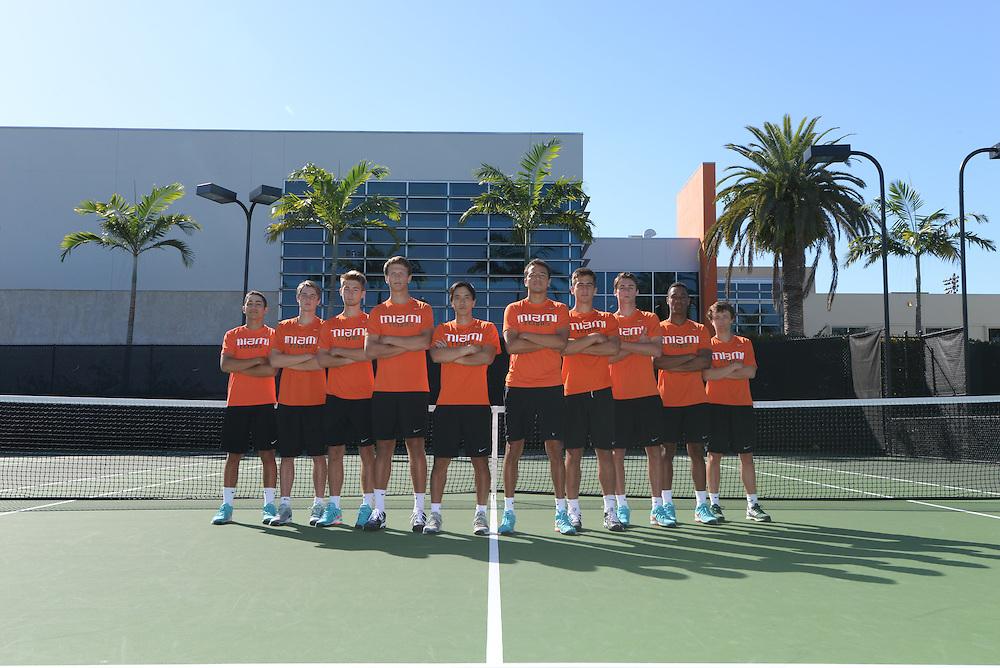 2015 Miami Hurricanes Men's Tennis Photo Day