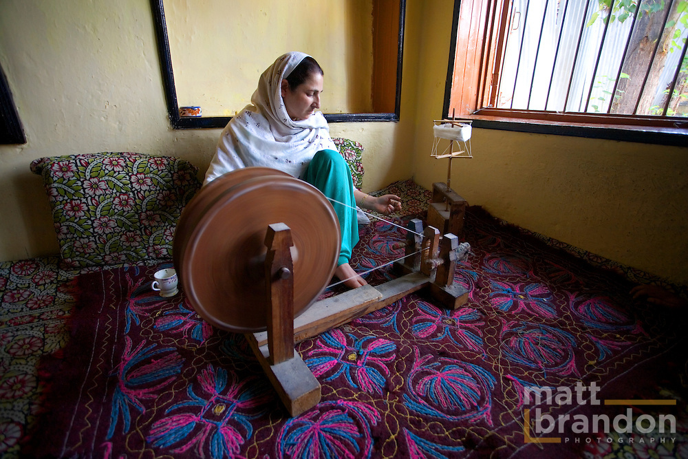 Kashmir has seen, much of the cottage industry has moved from small factors to the the craftsman's homes.