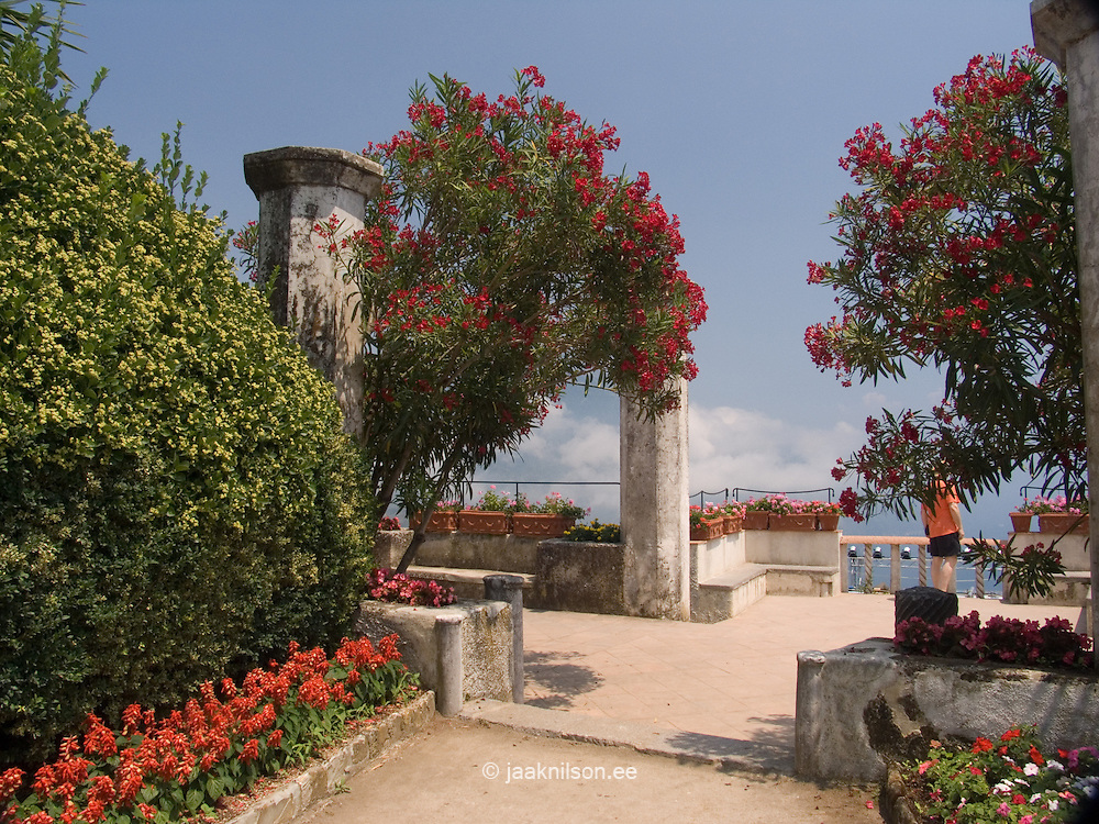 Garden of Villa Rufolo in Ravello, Amalfi Coast, Campania, Italy, Europe, World Heritage Site