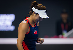 October 5, 2018 - Qiang Wang of China in action during her quarter-final match at the 2018 China Open WTA Premier Mandatory tennis tournament (Credit Image: © AFP7 via ZUMA Wire)