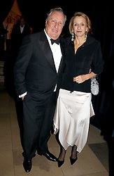FREDERICK & SANDY FORSYTHE at a private dinner to unveil the Van Cleef & Arpels jewellery collection 'Couture' with fashion by Anouska Hempel Couture held at The Banqueting House, Whitehall Palace, London on 8th March 2005.<br /><br />NON EXCLUSIVE - WORLD RIGHTS