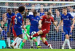 LONDON, ENGLAND - Saturday, September 29, 2018: Liverpool's James Milner (right) and Chelsea's N'Golo Kante during the FA Premier League match between Chelsea FC and Liverpool FC at Stamford Bridge. (Pic by David Rawcliffe/Propaganda)