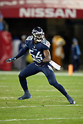 Tennessee Titans rookie inside linebacker Rashaan Evans (54) chases the action during the week 14 regular season NFL football game against the Jacksonville Jaguars on Thursday, Dec. 6, 2018 in Nashville, Tenn. The Titans won the game 30-9. (©Paul Anthony Spinelli)