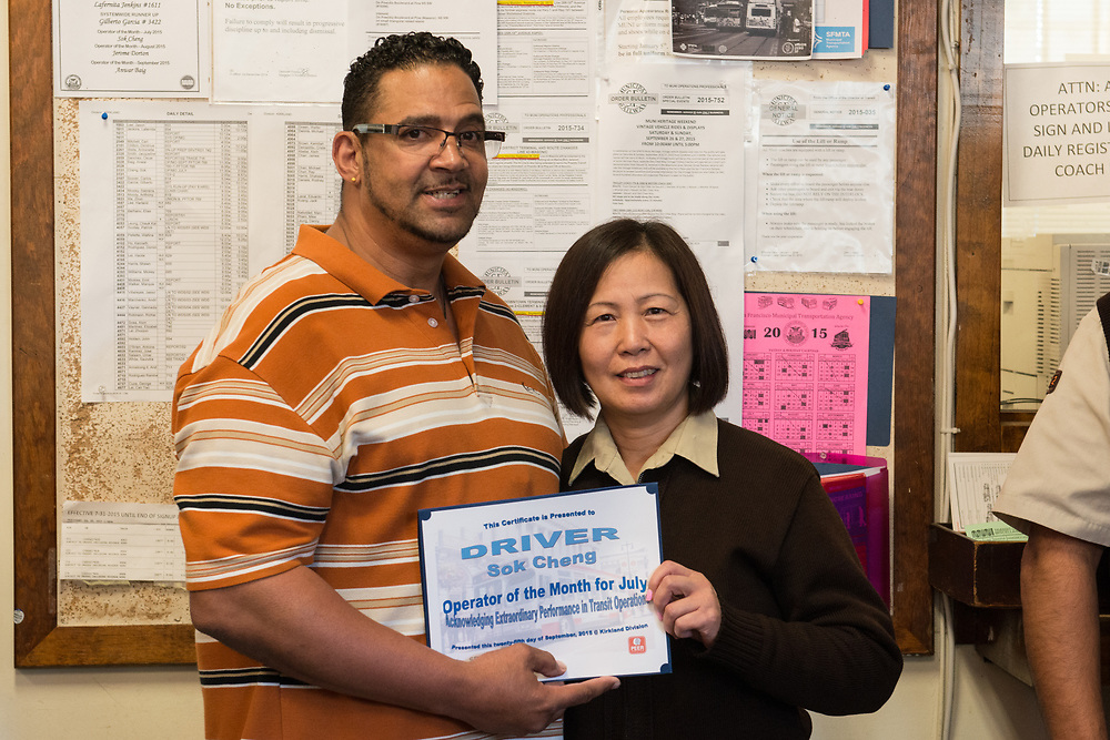 System Wide Operator of the Month Ceremony at Kirkland Division | September 25, 2015