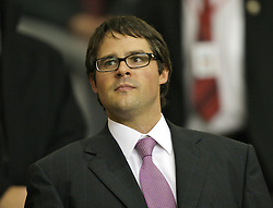 Liverpool, England - Wednesday, October 3, 2007: Liverpool's Director Foster Gillett during the UEFA Champions League Group A match against Olympique de Marseille at Anfield. (Photo by David Rawcliffe/Propaganda)