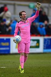 JONATHAN NORTH GOALKEEPER WEALDSTONE FC, Brackley Town v Wealdstone FA Trophy Semi Final First Leg, St James Park Saturday 17th March 2018. Score 1-0 (Alex Gudger)
