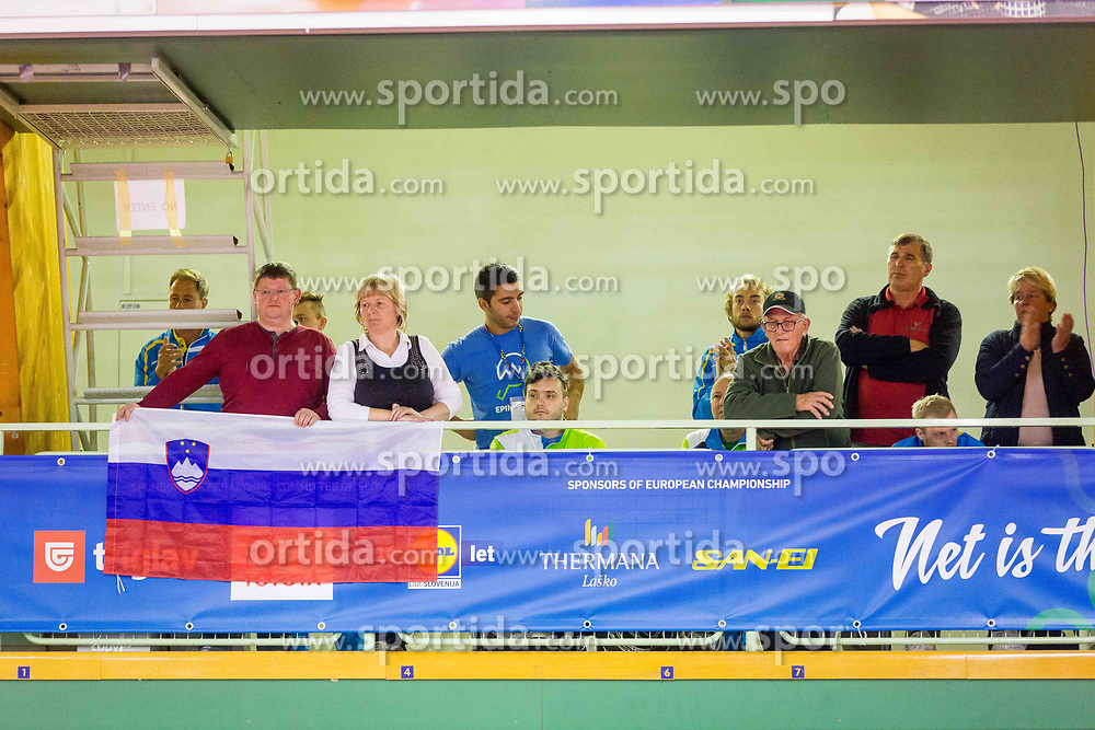SLOVENIAN FANS during day 5 of 15th EPINT tournament - European Table Tennis Championships for the Disabled 2017, at Arena Tri Lilije, Lasko, Slovenia, on October 2, 2017. Photo by Ziga Zupan / Sportida