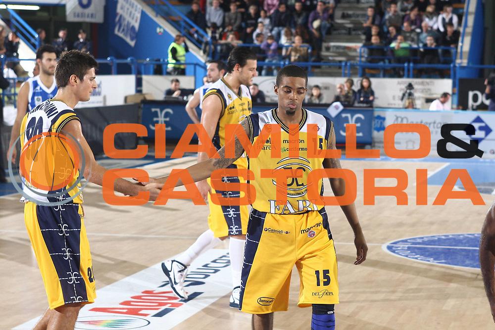 DESCRIZIONE : Porto San Giorgio Lega A 2010-11 Fabi Montegranaro Dinamo Sassari <br /> GIOCATORE : Allan Ray<br /> SQUADRA : Fabi Montegranaro<br /> EVENTO : Campionato Lega A 2010-2011<br /> GARA : Fabi Montegranaro Dinamo Sassari <br /> DATA : 17/10/2010<br /> CATEGORIA : esultanza<br /> SPORT : Pallacanestro<br /> AUTORE : Agenzia Ciamillo-Castoria/C.De Massis<br /> Galleria : Lega Basket A 2010-2011<br /> Fotonotizia : Porto San Giorgio Lega A 2010-11 Fabi Montegranaro Dinamo Sassari <br /> Predefinita :
