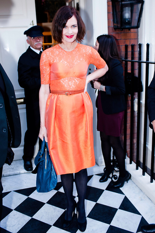 London, UK - 19 September 2012: Elizabeth McGovern participates in the fundraising dinner in London for President Barack Obama's 2012 re-election bid.