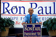 U. S. Republican Presidential candidate Ron Paul (R-TX) speaks during a campaign stop October 27, 2007 in Des Moines, Iowa.