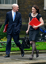 © Licensed to London News Pictures. 23/10/2012. Westminster, UK Minister of State for Universities and Science David Willetts and Northern Ireland Secretary Theresa Villiers. Ministers attend a Cabinet Meeting in 10 Downing Street today 23 October 2012. Photo credit : Stephen Simpson/LNP