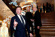 HUGH MORRISON; AMANDA WAKELEY; HAROLD TILLMAN;, Unveiling of the Dior Christmas Tree by John Galliano at Claridge's. London. 1 December 2009 *** Local Caption *** -DO NOT ARCHIVE-© Copyright Photograph by Dafydd Jones. 248 Clapham Rd. London SW9 0PZ. Tel 0207 820 0771. www.dafjones.com.<br /> HUGH MORRISON; AMANDA WAKELEY; HAROLD TILLMAN;, Unveiling of the Dior Christmas Tree by John Galliano at Claridge's. London. 1 December 2009