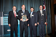 Scott Elisar, Michael Miller, Scott Williams, and Mark Weinberg Showing The Award...OU Government Luncheon, Tuesday, April 21st  in Columbus