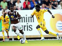Fotball , 2. september 2012 , Adeccoligaen , 1. divisjon<br /> Mjøndalen - Bodø/Glimt 2-0<br /> Papa Alioune Sane , Glimt<br /> Aziz Idris , MIF