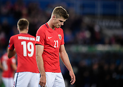 October 8, 2017 - Oslo, NORWAY - 171008  Norway Alexander Sørloth of Norway looks dejected  during the FIFA World Cup Qualifier match between Norway and Northern Ireland on October 8, 2017 in Oslo..Photo: Jon Olav Nesvold / BILDBYRÃ…N / kod JE / 160041 (Credit Image: © Jon Olav Nesvold/Bildbyran via ZUMA Wire)