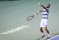 August 10, 2018 - Toronto, ON, U.S. - TORONTO, ON - AUGUST 10: Marin Cilic (CRO) serves during his Quarter-Finals match of the Rogers Cup tennis tournament on August 10, 2018, at Aviva Centre in Toronto, ON, Canada. (Photograph by Julian Avram/Icon Sportswire) (Credit Image: © Julian Avram/Icon SMI via ZUMA Press)