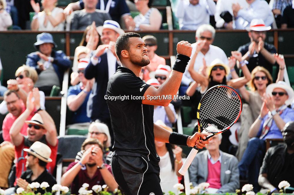 Jo Wilfried Tsonga -  02.06.2015 - Jour 10 - Roland Garros 2015<br />Photo : Nolwenn Le Gouic / Icon Sport