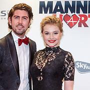 NLD/Amsterdam/20151214 - Film premiere Mannenharten 2, Vajen van den Bosch en partner