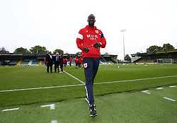 Record signing Famara Diedhiou arrives at Huish Park with the Bristol City team - Mandatory by-line: Gary Day/JMP - 15/07/2017 - FOOTBALL - Huish Park - Yeovil, England - Yeovil Town v Bristol City - Pre-season friendly