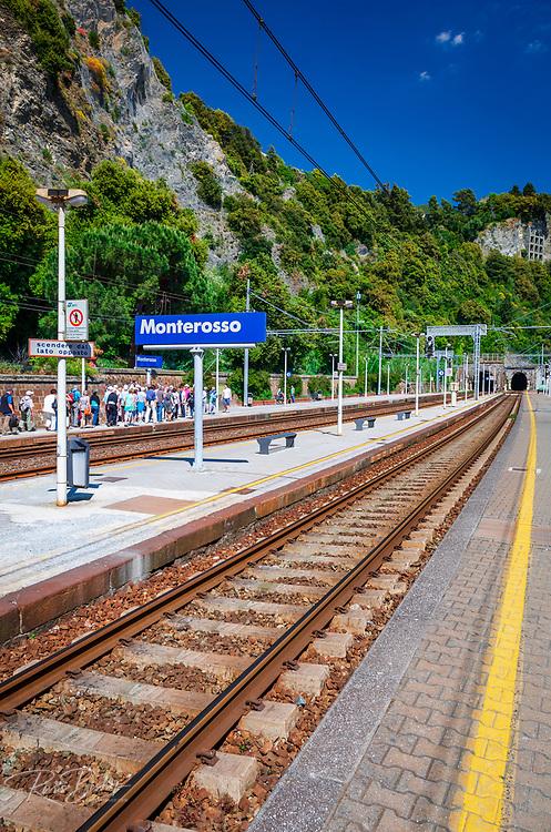 The train station at Monterosso al Mare, Cinque Terre, Liguria, Italy