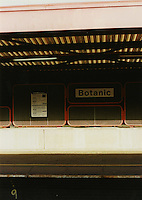 Botanic train station in Belfast Northern Ireland