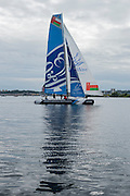 The Wave Muscat, day three of the Cardiff Extreme Sailing Series Regatta. 24/8/2014