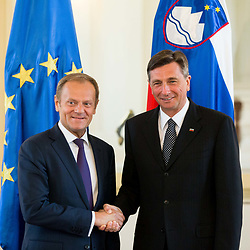 20170403: SLO, Politics - Donald Tusk and Borut Pahor in Ljubljana