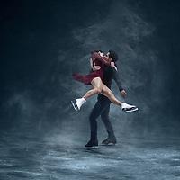 Tessa Virtue and Scott Moir during the 2017 Skate Canada International in Regina
