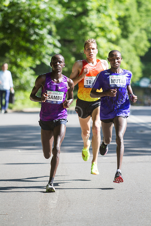 UAE Healthy Kidney 10K, Stephen Sambu, Ben True, Geoffrey Mutai lead with 2 miles to go