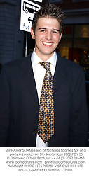 MR HARRY SOAMES son of Nicholas Soames MP at a party in London on 5th September 2002.PCY 55