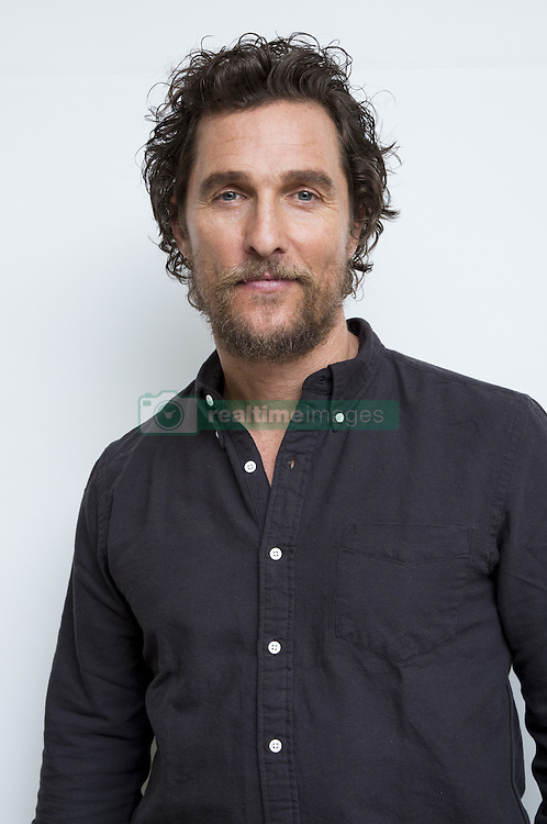 December 5, 2016 - Hollywood, California, U.S. - MATTHEW MCCONAUGHEY promotes movie 'Gold.' Matthew David McConaughey (born November 4, 1969) is an American actor. He first gained notice for his breakout role in the coming-of-age comedy Dazed and Confused (1993). He appeared in such films as the slasher Texas Chainsaw Massacre: The Next Generation (1994), the legal thriller A Time to Kill (1996), S. Spielberg's historical drama Amistad (1997), the science fiction drama Contact (1997), the comedy EDtv (1999), and the war film U-571 (2000). In the 2000s, McConaughey became best known for starring in romantic comedies, including The Wedding Planner (2001), How to Lose a Guy in 10 Days (2003), Failure to Launch (2006), Fool's Gold (2008), and Ghosts of Girlfriends Past (2009). Since 2011 he has preferred dramatic roles, in such films as The Lincoln Lawyer (2011), Bernie (2011), Killer Joe (2011), The Paperboy (2012), Mud (2012), Magic Mike (2012), The Wolf of Wall Street (2013), Dallas Buyers Club (2013), Interstellar (2014) and Free State of Jones (2016). Upcoming: White Boy Rick (2017), The Dark Tower (2017). (Credit Image: © Armando Gallo via ZUMA Studio)