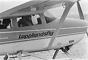 Lapplandsflyg startar från Staloluokta i sjön Virihavrre