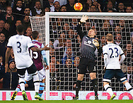Brad Guzan of Aston Villa makes a reaction save during the Barclays Premier League match at White Hart Lane, London<br /> Picture by Jack Megaw/Focus Images Ltd +44 7481 764811<br /> 02/11/2015