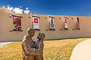 Park Place sculpture by artist Glenna Goodacre in the garden at the Albuquerque Museum in Albuquerque, New Mexico.