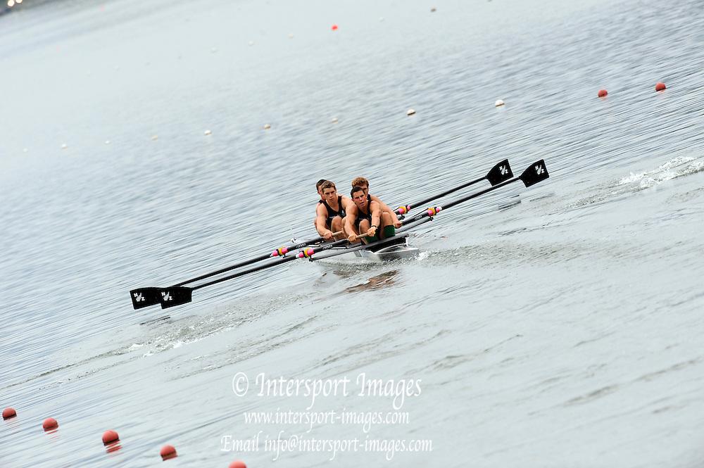 Ottensheim, AUSTRIA.   NZL, JM4+-, at the start,  2008 FISA Senior and Junior Rowing Championships,  Linz/Ottensheim. Thursday,  24/07/2008.  [Mandatory Credit: Peter SPURRIER, Intersport Images] Rowing Course: Linz/ Ottensheim, Austria
