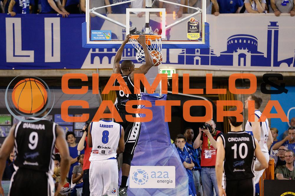 Linton Johnson<br /> Germani Basket Brescia Leonessa - Pasta Reggia Juve Caserta<br /> Lega Basket Serie A 2016/2017<br /> Montichiari, 02/04/2017<br /> Foto Ciamillo-Castoria / M. Brondi