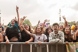 Festival goers enjoying themselves on day 1 of All Points East festival in Victoria Park in London, UK. Picture date: Friday 25 May 2018. Photo credit: Katja Ogrin/ EMPICS Entertainment.