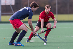 Southgate v Oxted - Men's Hockey League East Conference, Trent Park, London, UK on 26 November 2017. Photo: Simon Parker