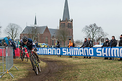 David Menut (FRA) of Auber 93, Men Elite, Cyclo-cross World Cup Hoogerheide, The Netherlands, 25 January 2015, Photo by Pim Nijland / PelotonPhotos.com