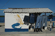 Vivienda de pescadores en Los Roques.  (Ramon Lepage / Orinoquiaphoto)