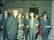 24/08/1984<br /> 08/24/1984<br /> 24 August 1984<br /> Opening of ROSC '84 at the Guinness Store House, Dublin. Mr Pat Murphy, ROSC Chairman, speaking with President Patrick Hillery, and Maeve Hillery and Lord Iveagh, with Mr Tead Nealon, Minister of State for Arts and Culture, on the right.