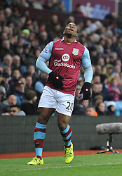 Adama Traore of Aston Villa cuts a dejected figure after losing the ball - Mandatory byline: Dougie Allward/JMP - 13/12/2015 - Football - Villa Park - Birmingham, England - Aston Villa v Arsenal - Barclays Premier League