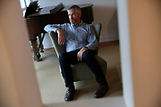 Tim Allen sits for a portrait at his Bernal Heights home, Wednesday, March 21, 2018, in San Francisco, Calif. A new UCSF study shows a smartwatch app Cardiogram tracks a user's cardio activity and helps detect atrial fibrillation. Allen participated in the study.