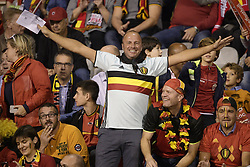 October 12, 2018 - Brussels, BELGIUM - Red Devils' supporters pictured before a soccer game between Belgian national team the Red Devils and Switzerland in Brussels, Friday 12 October 2018, the second game in group 2 of the UEFA Nations League A competition. BELGA PHOTO YORICK JANSENS (Credit Image: © Yorick Jansens/Belga via ZUMA Press)