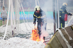 Firefighter during football match between NK Maribor and ND Gorica in Round #36 of Prva liga Telekom Slovenije 2017/18, on April 27, 2018 in Ljudski vrt, Maribor, Slovenia. Photo by Urban Urbanc / Sportida